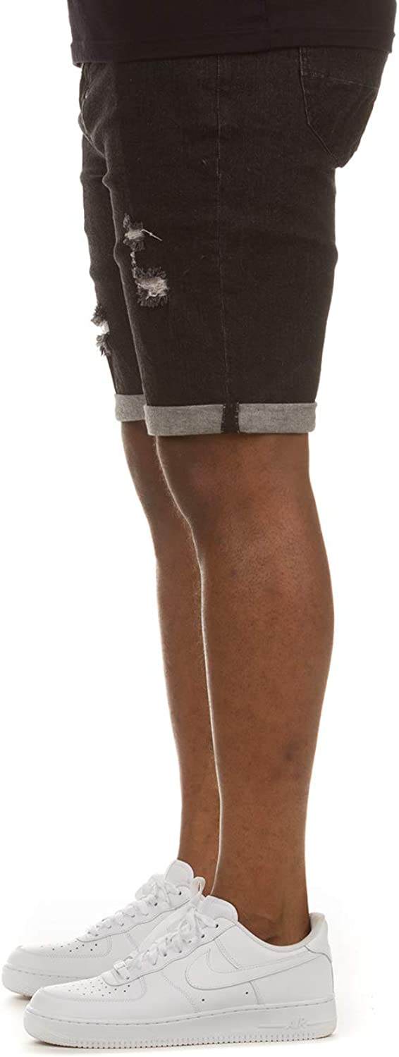 Akoo Men's Kenya Jean Shorts for Classic Summer Beach and Workout Comfy