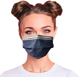 Sponsored Ad - 4-Ply Breathable Multi-Color Layer Disposable Face Mask - Made in USA - Highest Protection with Comfortable...