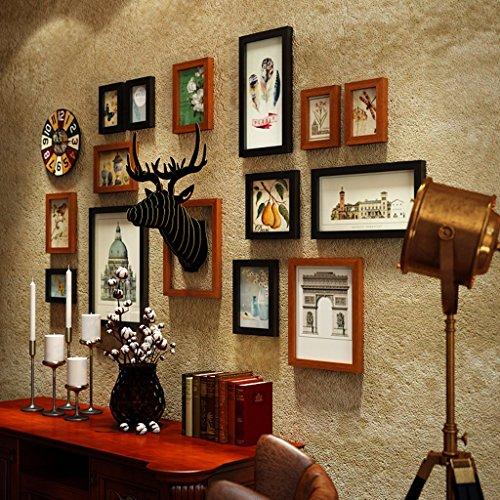 Dagelijks Huis 14 Multi fotolijsten Set Amerikaanse Vintage Stijl Slaapkamer Woonkamer Slaapbank Achtergrond Muur Samenstelling fotolijst Fotowand