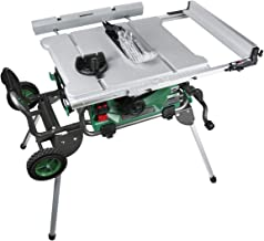 Metabo HPT Jobsite Table Saw, 10-Inch Carbide Tipped Blade, 35-Inch Rip Capacity, Fold & Roll Stand, 8 x 13/16-Inch Dado C...