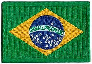 Patch Bordado - Bandeira Brasil Media BD50014-16G Termocolante Para Aplicar