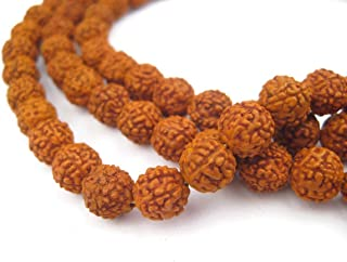 Rudraksha Rudraksh Japa Mala Rosary 108 + 1 Prayer Beads 8mm