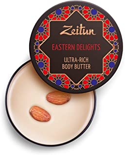 Zeitun Ultra-Rich Body Butter - Eastern Delights - Hydrating Body Cream Moisturizer - Shea And Cocoa Body Butter With Coconut, Tamanu And Walnut Oils 6.7 oz