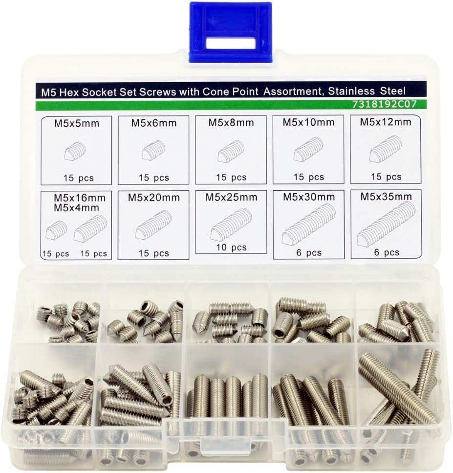 Screw M5 Cheap mail order shopping Hex Socket Set Screws Kit Point St Cone New Shipping Free Shipping Assortment with