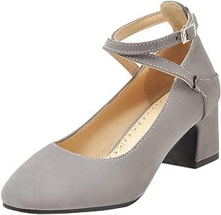 ELEEMEE Women Elegant Block Heel Pumps Shoes