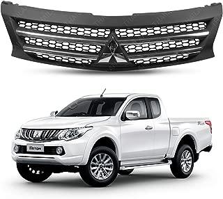 Powerwarauto Front Grille Grill Matte Black Color Chrome Logo Trim For Mitsubishi Triton L200 MN ML MQ UTE Truck 2 Doors 4 Doors 4WD 2WD 4x4 4x2 2015 2015 2017 2018 V.1