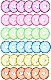 Heritan Lot de 60 disques de reliure en plastique de 24 mm pour livres et cahiers