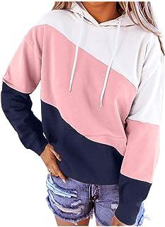 Divilon Women Casual Hoodie Tie Dye Print Drawstring Pullover Baggy Sweatshirt with Pocket(S-XXL)