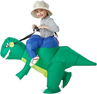 YEAHBEER Dinosaur Inflatable Costume T-Rex Fancy Dress Halloween Blow up Costumes