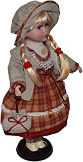 Baosity Porcelain Doll Crafts Girl Figures with Adjustable Display Support Victorian Collections Beautiful Female Figurines Statues