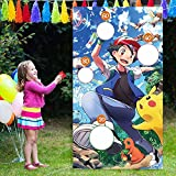 ZEADERS Cartoon Anime Video Theme Toss Games with 4 Bean Bags, Kids Party Games Fun Indoor Outdoor Sport Games,Birthday Party Decoration Supplies