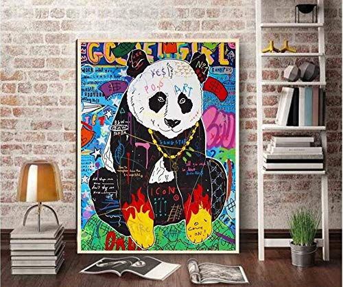 Puzzle 1000 piezas Arte de graffiti moderno panda pintura clásica gran regalo para amigos puzzle 1000 piezas adultos Juego de habilidad para toda la familia, colorido juego de50x75cm(20x30inch)