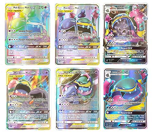 Tag Team GX Cards Set Muk & Alolan Muk with GX Same Character / English Cards / Standard Size / Glossy Series