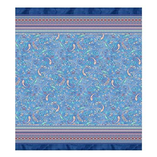 Bassetti Burano Foulard, Algodón, B1, Color Azul, 270 x 270 cm