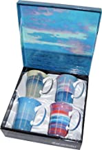 4 William Blair Bruce Coffee or Tea Mugs in a Matching Gift Box and 6 Tea Bags, Bundle 2 Items