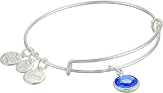 Women's Swarovski Color Code Bangle September Sapphire Bracelet, Shiny Silver, Expandable