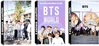 3 Pack / 90 Pcs BTS Lomo Card KPOP Bangtan Boys WORLD OST Photocards with Greeting Card Postcards Box