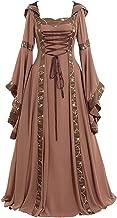 Women's Gothic Cosplay Dress Vintage Celtic Medieval Floor Length Renaissance Dress