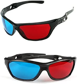 Sungpunet Red-Blue/Cyan Anaglyph Simple Style 3D Glasses 3D Movie Game-Extra Upgrade Style (2Pcs with Different Style)