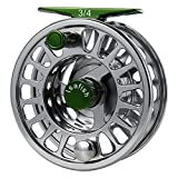 Mounchain Fly Fishing Reel Large Arbor with CNC-machined Aluminum Alloy Body Stainless Steel Ball Bearings 3/4, 5/6, 7/8 Weights for Saltwater Freshwater Fly Reel