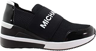 Michael Kors Shoes Woman Low Sneakers with Wedge 43T8FXFS3D Felix Trainer Black Size