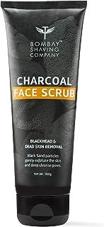 Bombay Shaving Company Charcoal Face Scrub with Black Sand, Exfoliates skins & Removes Black Heads, Black, 100 g