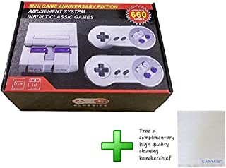 Mini Classic Game Consoles Mini Retro Game Consoles Built-in 660 Games Video Games Handheld Game Player (AV Out Cable 8-Bit) Bring You Happy Childhood Memories
