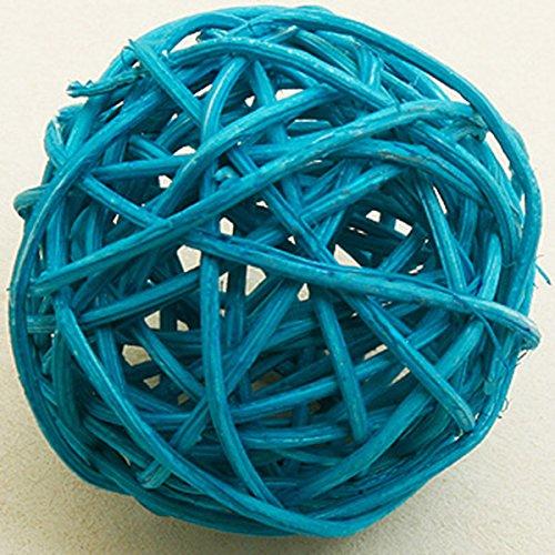 6 boules en osier turquoise (Dia. 3,5 cm) - taille - Taille Unique - 208319