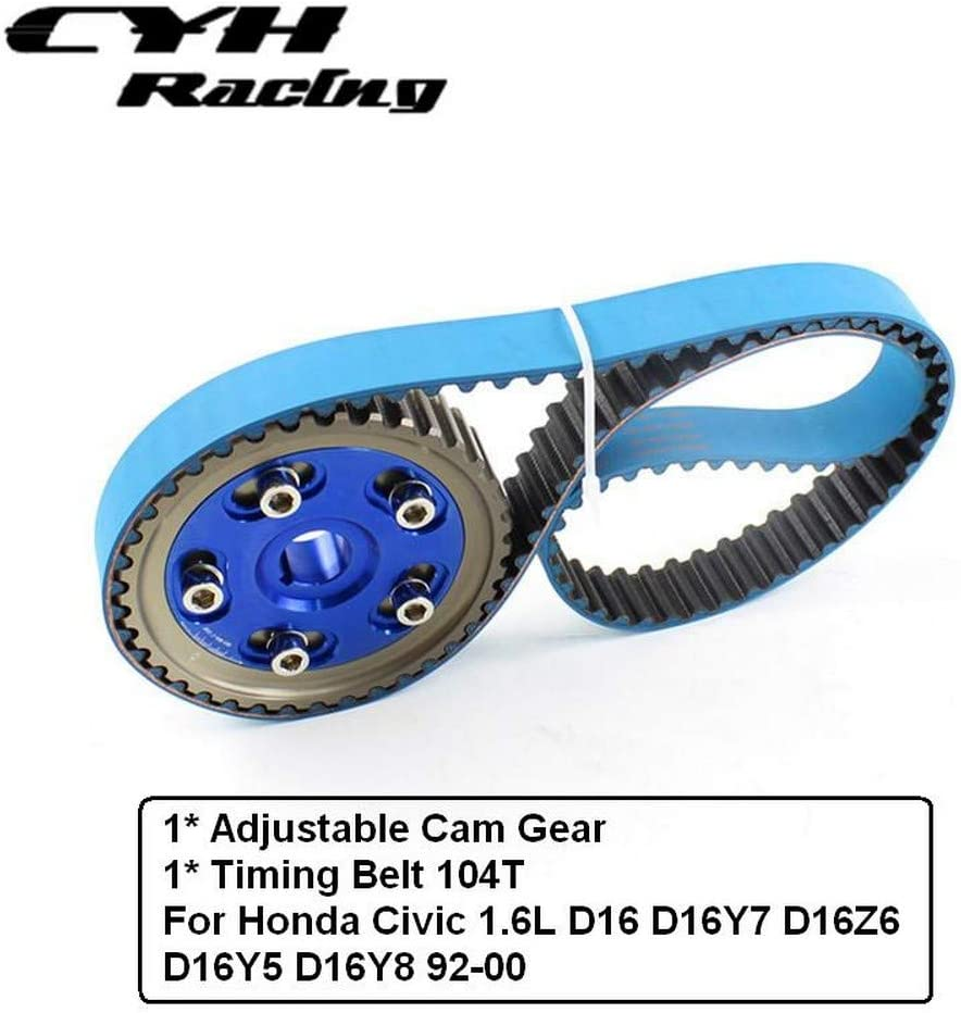Excellent Adjustable Cam Gear Pulley Ranking TOP12 + Timing Belt 104T Honda Civic 1. For
