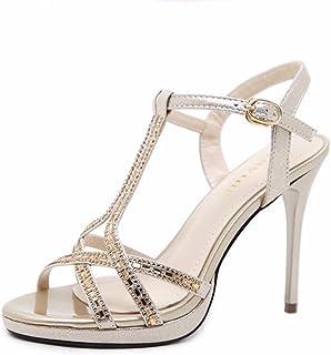 ahorrar 36c51 870f8 Amazon.es: sandalias fiesta doradas - Sandalias de vestir ...
