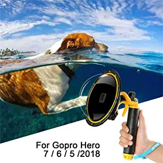 para GoPro Domo Puerto, para Gopro Hero Negro Domo GoPro Accesorios Lente de cúpula subacuática Caja de Carcasa Impermeable Súper Traje de Buceo con Pistola gatillo para acción cámara