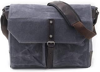 Mens Bag Messenger Bag Simple Retro Large Capacity Zipper Waterproof Outdoor Canvas Briefcase Shoulder Bag High capacity