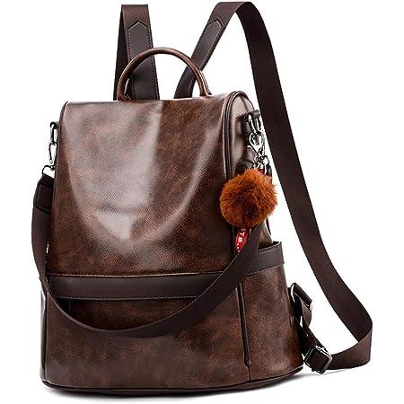 shepretty Damen Rucksack Anti Diebstahl Umhängetasche Multifunktions Schultaschen,6766Kaffee