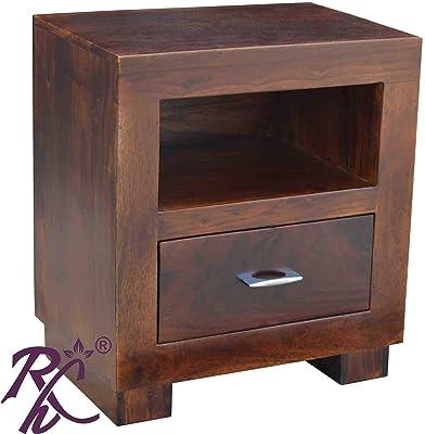 Raj Handicraft Solid Sheesham Wood Bed Side Table