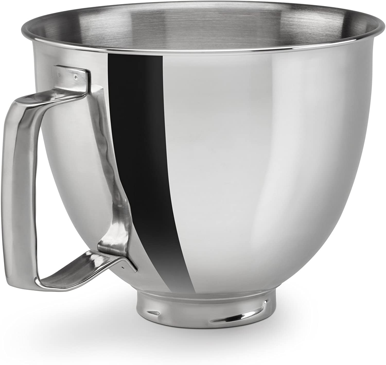 KitchenAid KSM35SSFP Polished Stainless Steel Bowl with Handle, Metallic