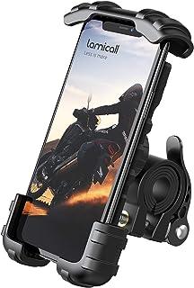 Lamicall Soporte Movil Bicicleta, Soporte Motocicleta - Universal Rotación 360° Soporte Manillar para iPhone 11 Pro MAX, XS MAX, X, XR, 8, 7, 6S, Samsung S10 S9 S8 S7, Huawei, 4.7-6.8