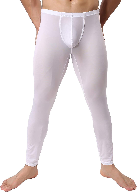 iYunyi Mens Thin Ice Silk Compression Baselayer Thermal Long Johns Underwear