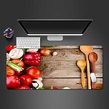 ZNNBH Alfombrilla Raton Grande Gaming Mouse Pad XXL 900x400mm Antideslizante Diseñada - Bordes cosidos - Cuchara de Chile Rojo - para Gamers, Trabajo de Oficina,PC y Laptop