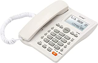 Desktop Corded Telephone with Caller ID Display, DTMF/FSK Dual System, Wired Landline Phone for Home/Hotel/Office, Adjusta...