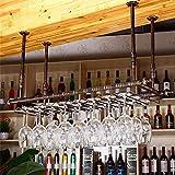 YAzNdom Sostenedor De Copa De Vino Home Bar Vino de Mesa Decoración Creativa del Vino del cubilete de Cristal Colgante de Vino Rack Rack revés Apto para Cafeterías (Color : Brown, Size : 120x30cm)