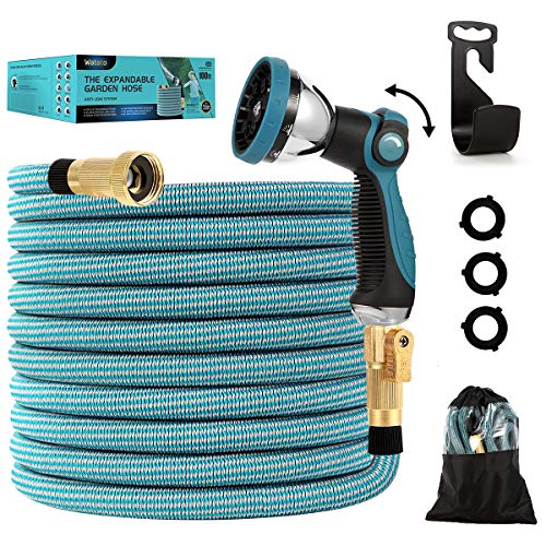 Watato Expandable Garden Hose 100ft-Water Hose with Durable 10 Way...