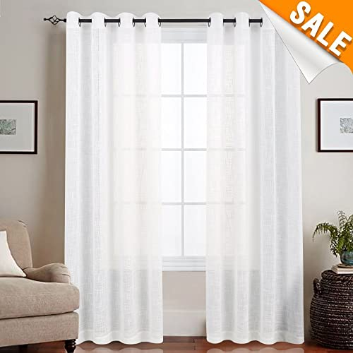 Modern White Sheer Curtains Living Room: Amazon.com