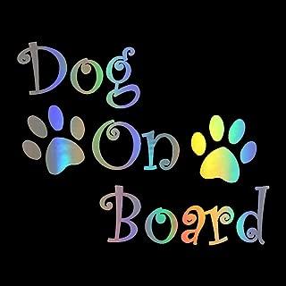 HungMieh Dog On Board Decals Car Sticker Vinyl Rainbow Color 7.9