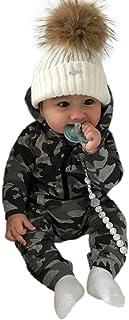 Xiantime Neugeborenes Kleidung Baby Jungen Mädchen Camouflage Print Kapuzen-Overall Overall Kleidung Outfits Xinantime