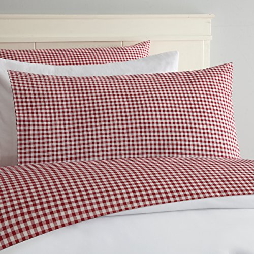 Laurel & Mayfair Gingham Cotton Sheet Set (Queen, Red)