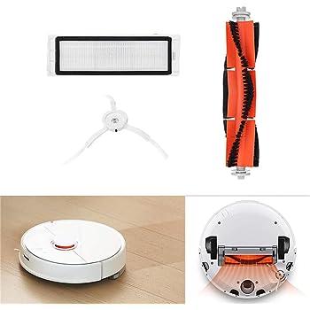 Accesorios para Xiaomi 1S/Roborock T65 Vacuum Cleaner (Robot Aspirador de 14 Piezas) 2 cepillos centrales + 8 cepillos Laterales + 4 filtros HEPA: Amazon.es: Deportes y aire libre