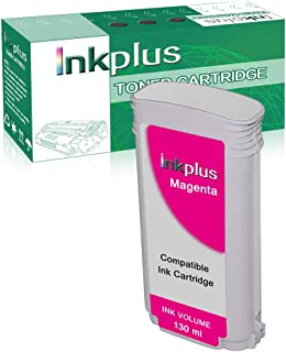 InkPlus Remanufactured CR355A Ink Cartridge Replacement for HP Designjet T920 Printer Ink Cartridge - 1 Pack Magenta
