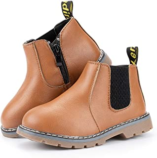 Meckior Save Beautiful Baby Kids Boots Girl Boy Shoes Rain Hiking Winter Snow Booties (5, A02/brown)