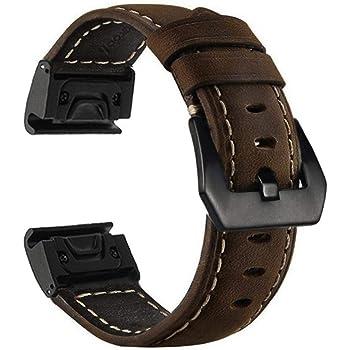 bracelet cuir marron fenix 3