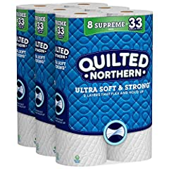 Premium bath tissue provides a comfortable clean you can count on 2-ply toilet paper has soft, durable layers that flex and hold up Quilted Northern Ultra Soft & Strong toilet paper is meticulously crafted for a reliable, comfortable experience Flush...